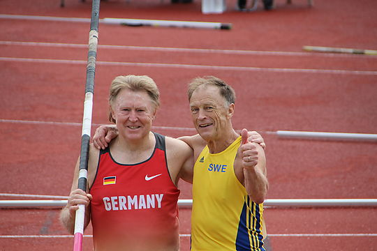 Reiner Goertz at European Championships in the decathlon in second place